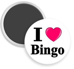 I Love Bingo Button Magnet
