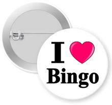 Load image into Gallery viewer, I Love Bingo Button Pin