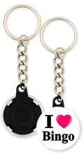 Load image into Gallery viewer, I Love Bingo Button Keyring Keychain
