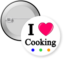 Load image into Gallery viewer, I Love Cooking Button Pin