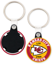 Load image into Gallery viewer, Kansas City Chiefs NFL Football Button Keyring