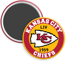 Load image into Gallery viewer, Kansas City Chiefs NFL Football Button Magnet