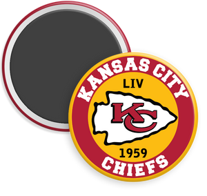 Kansas City Chiefs NFL Football Button Magnet