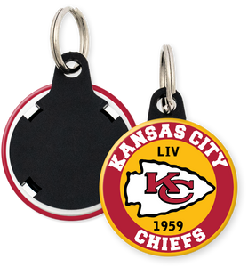 Kansas City Chiefs NFL Football Button Keyring