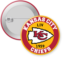 Load image into Gallery viewer, Kansas City Chiefs NFL Football Button Pin
