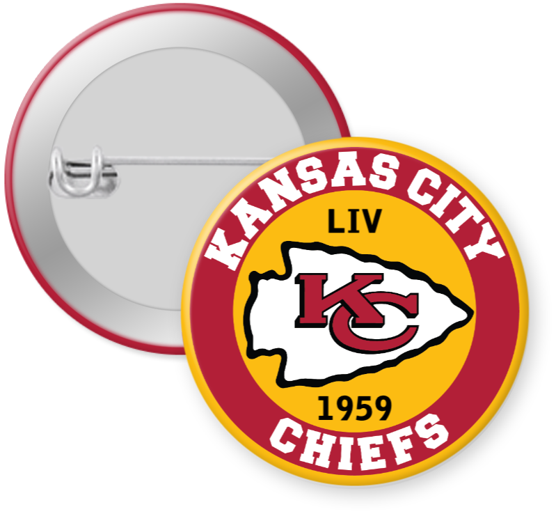 Kansas City Chiefs NFL Football Button Pin