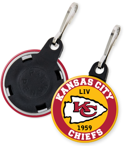 Kansas City Chiefs NFL Football Button Zipper Pull