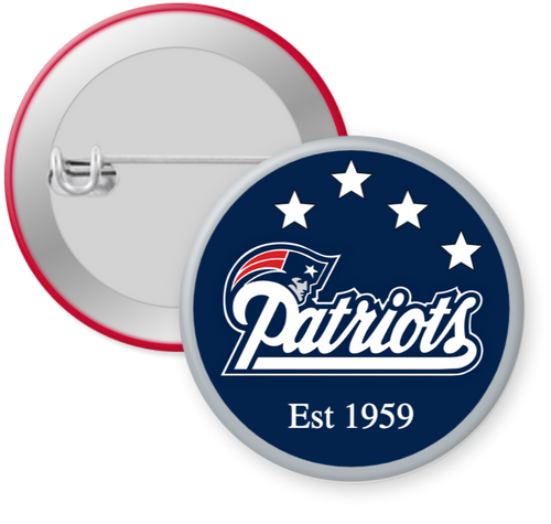 New England Patriots NFL Football Button Pin
