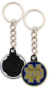 University of Notre Dame Fighting Irish Button Keychain