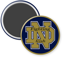 Load image into Gallery viewer, University of Notre Dame Fighting Irish Button Magnet