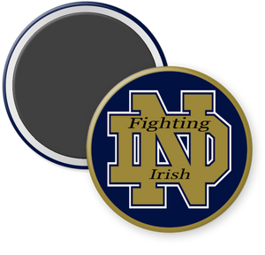 University of Notre Dame Fighting Irish Button Magnet