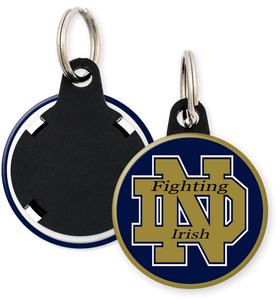 University of Notre Dame Fighting Irish Button Keyring