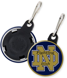 University of Notre Dame Fighting Irish Button Zipper Pulls