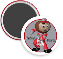 Load image into Gallery viewer, The Ohio State University Buckeyes Brutus Button Magnet