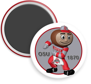 The Ohio State University Buckeyes Brutus Button Magnet