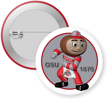 Load image into Gallery viewer, The Ohio State University Buckeyes Brutus Button Pin