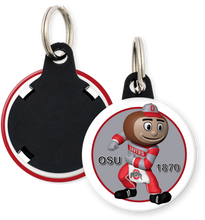 Load image into Gallery viewer, The Ohio State University Buckeyes Brutus Button Keyring