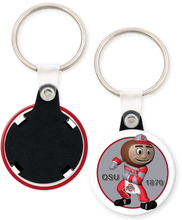 Load image into Gallery viewer, The Ohio State University Buckeyes Brutus Button Keychain