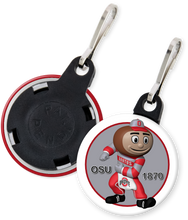 Load image into Gallery viewer, The Ohio State University Buckeyes Brutus Button Zipper Pull