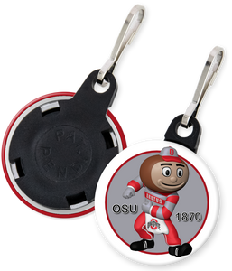 The Ohio State University Buckeyes Brutus Button Zipper Pull