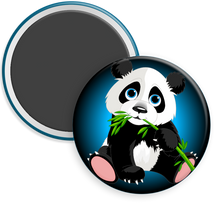 Load image into Gallery viewer, Panda Bear Button Magnet