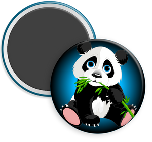 Panda Bear Button Magnet