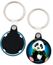 Load image into Gallery viewer, Panda Bear Button Keyring Keychain