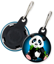 Load image into Gallery viewer, Panda Bear Button Zipper Pull