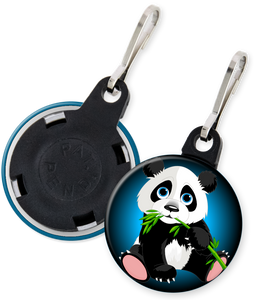 Panda Bear Button Zipper Pull
