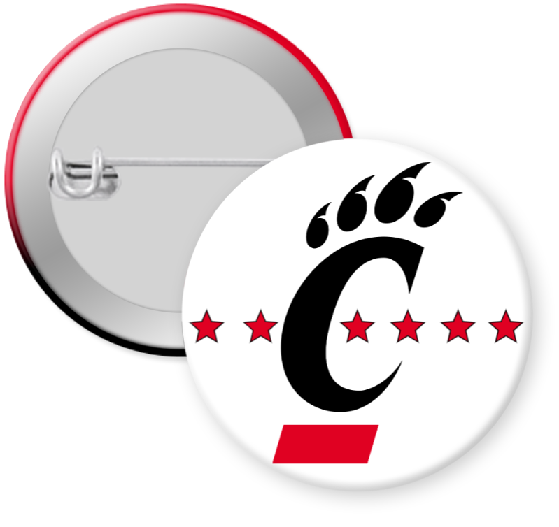University of CIncinnati Button Pin