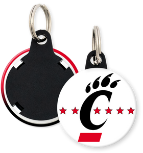 University of CIncinnati Button Keyring Keychain
