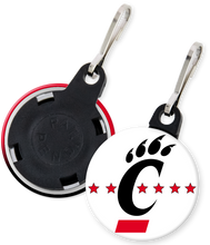 Load image into Gallery viewer, University of CIncinnati Button Keyring Keychain