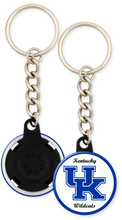 Load image into Gallery viewer, University of Kentucky Button Keyring Keychain