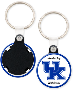 University of Kentucky Button Keyring Keychain