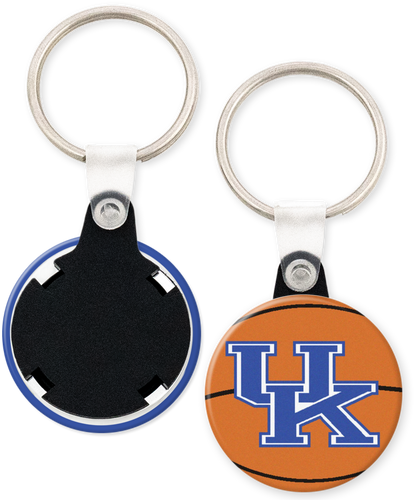 University of Kentucky Wildcats Button Keyring Keychain