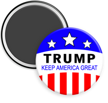 Load image into Gallery viewer, Trump Keep America Great Trump 2020 Campaign Button Magnet