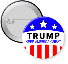 Load image into Gallery viewer, Trump Keep America Great Trump 2020 Campaign Button Pin