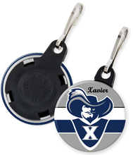 Load image into Gallery viewer, Xavier University Button Zipper Pull