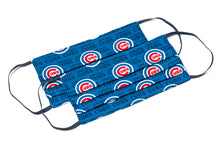 Load image into Gallery viewer, Chicago Cubs blue MLB baseball handmade cloth face masks