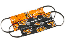 Load image into Gallery viewer, Cincinnati Bengals orange and black NFL pleated cotton face masks