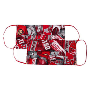 Ohio State Buckeyes Cloth Face Masks (2)