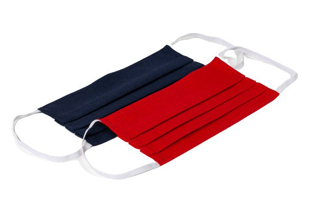 Red and Blue Cloth Face Masks (2)