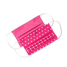 Load image into Gallery viewer, Pink White polka-dot handmade cloth face masks