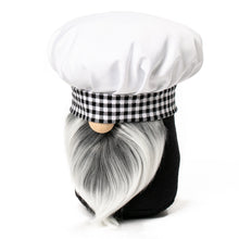 Load image into Gallery viewer, Little Chef Kitchen Gnome in black and white