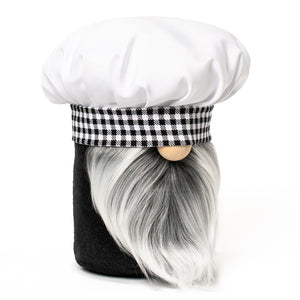 Little Chef Kitchen Gnome in black and white