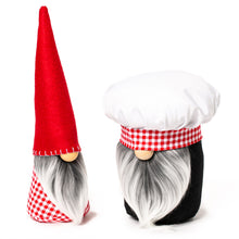 Load image into Gallery viewer, Kitchen Chef Nordic Gnomes in red and white for home decor