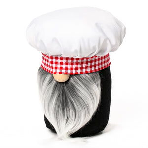 Little Chef Kitchen Gnome in red and white