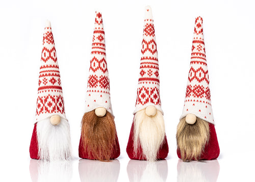 Handmade Christmas holiday fabric elf gnomes