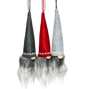Christmas fabric gnome hanging ornaments