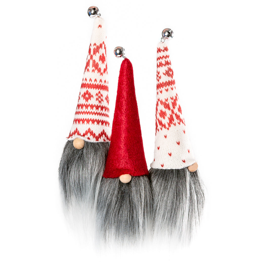 Christmas Tree Fabric Gnome Ornaments